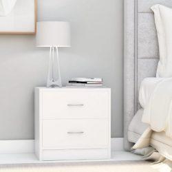 2 db fehér forgácslap éjjeliszekrény 40 x 30 x 40 cm