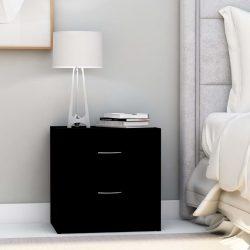 2 db fekete forgácslap éjjeliszekrény 40 x 30 x 40 cm