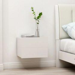 fehér forgácslap éjjeliszekrény 40 x 30 x 30 cm