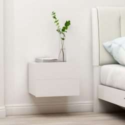 2 db fehér forgácslap éjjeliszekrény 40 x 30 x 30 cm