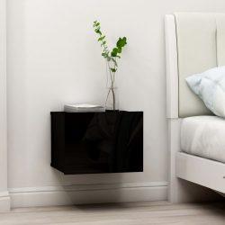 2 db fekete forgácslap éjjeliszekrény 40 x 30 x 30 cm