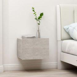 2 db betonszürke forgácslap éjjeliszekrény 40 x 30 x 30 cm