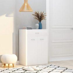 fehér forgácslap cipősszekrény 60 x 35 x 84 cm