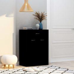 fekete forgácslap cipősszekrény 60 x 35 x 84 cm