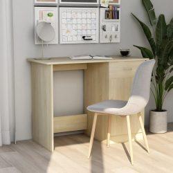 sonoma-tölgy színű forgácslap íróasztal 100 x 50 x 76 cm