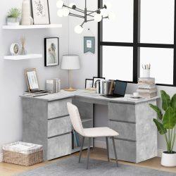 szürke forgácslap sarok íróasztal 145 x 100 x 76 cm