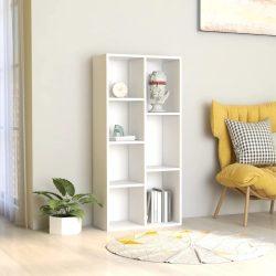 fehér forgácslap könyvszekrény 50 x 25 x 106 cm