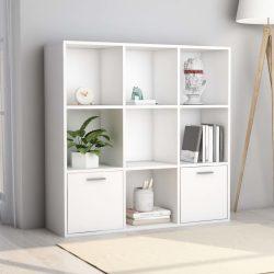 fehér forgácslap könyvszekrény 98 x 30 x 98 cm