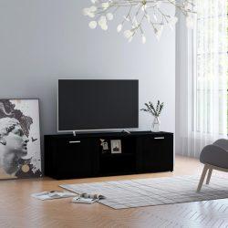fekete forgácslap TV-szekrény 120 x 34 x 37 cm