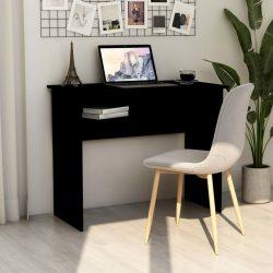 fekete forgácslap íróasztal 90 x 50 x 74 cm