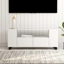 fehér forgácslap TV-szekrény 120 x 35 x 43 cm