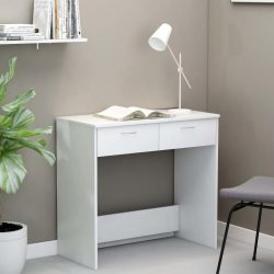 fehér forgácslap íróasztal 80 x 40 x 75 cm