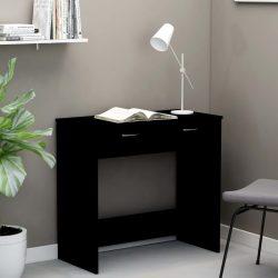 fekete forgácslap íróasztal 80 x 40 x 75 cm
