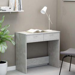 betonszürke forgácslap íróasztal 80 x 40 x 75 cm