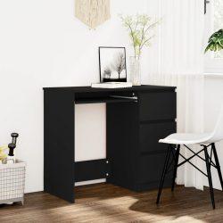 fekete forgácslap íróasztal 90 x 45 x 76 cm
