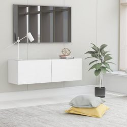 fehér forgácslap TV-szekrény 100 x 30 x 30 cm
