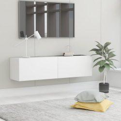 fehér forgácslap TV-szekrény 120 x 30 x 30 cm