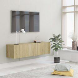 sonomatölgy színű forgácslap TV-szekrény 120 x 30 x 30 cm