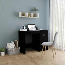 fekete forgácslap íróasztal 100 x 50 x 76 cm