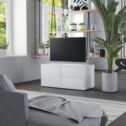 fehér forgácslap TV-szekrény 80 x 34 x 36 cm