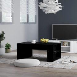 fekete forgácslap dohányzóasztal 100 x 60 x 42 cm