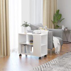 fehér forgácslap tálalóasztal 70 x 35 x 55 cm