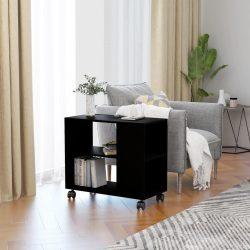 fekete forgácslap tálalóasztal 70 x 35 x 55 cm