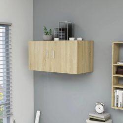 sonoma-tölgy falra szerelhető forgácslap szekrény 80x39x40 cm