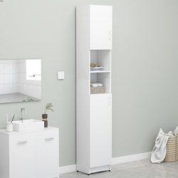 fehér forgácslap fürdőszobaszekrény 32 x 25,5 x 190 cm