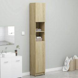 sonoma tölgy színű forgácslap fürdőszobaszekrény 32x25,5x190 cm