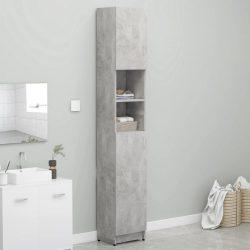 betonszürke forgácslap fürdőszobaszekrény 32 x 25,5 x 190 cm