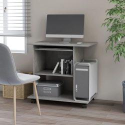 betonszürke forgácslap számítógépasztal 80 x 50 x 75 cm