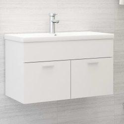 fehér forgácslap mosdószekrény 80 x 38,5 x 46 cm
