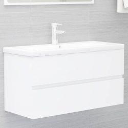 fehér forgácslap mosdószekrény 90 x 38,5 x 45 cm
