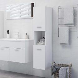 fehér forgácslap fürdőszobaszekrény 30 x 30 x 130 cm